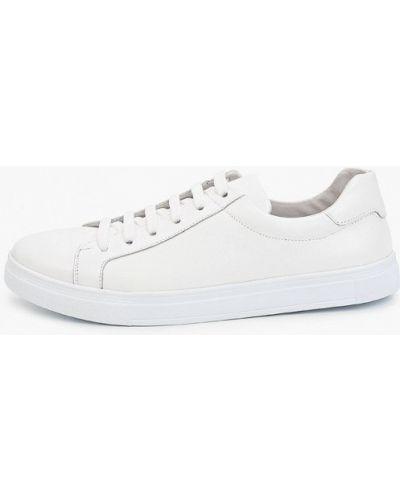 Кожаные белые низкие кеды Valser