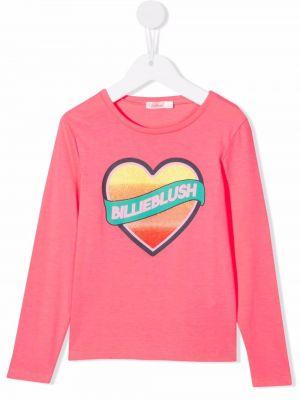 Różowa T-shirt z nadrukiem z printem Billieblush