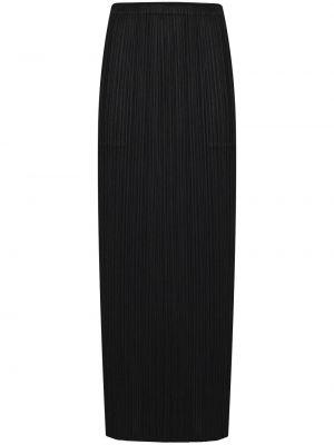 С завышенной талией плиссированная черная юбка миди Pleats Please Issey Miyake