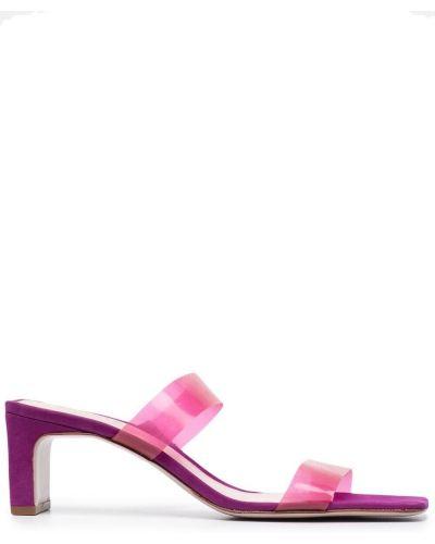 Фиолетовые кожаные сандалии прозрачные Schutz