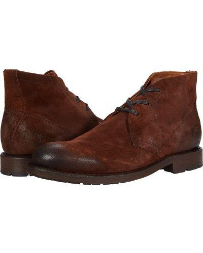 Замшевые ботинки - коричневые Frye