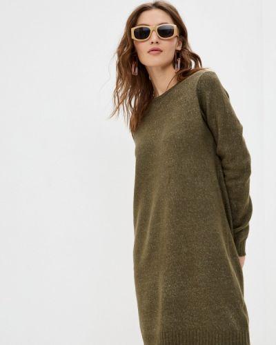Трикотажное зеленое вязаное платье Sublevel