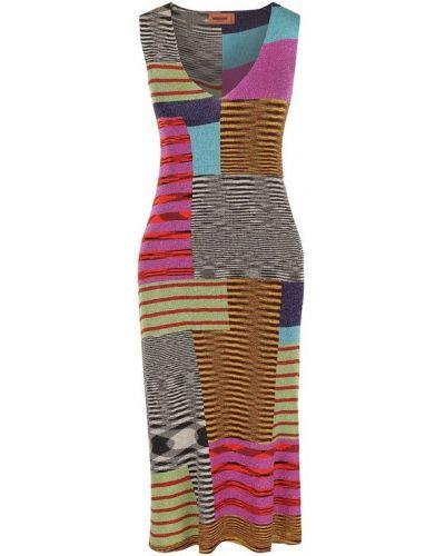 Платье миди вязаное с V-образным вырезом Missoni