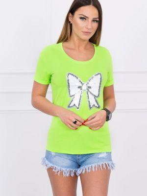 Bluzka materiałowa - zielona Kesi