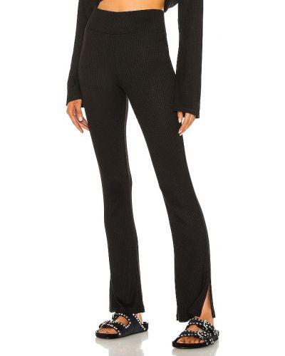 Czarny włókienniczy spodnie palazzo na gumce Rag & Bone