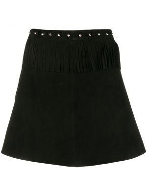 С завышенной талией черная кожаная юбка Simonetta Ravizza