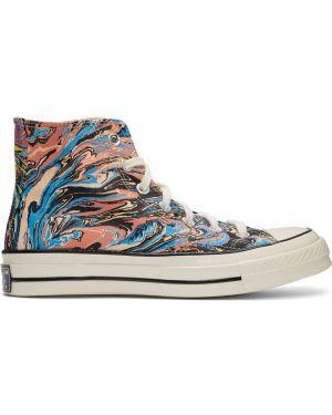 Wysoki sneakersy białe srebro Converse