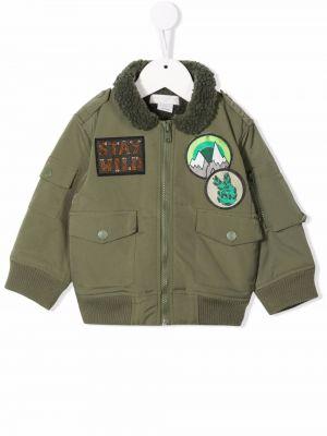 Zielona kurtka bomber Stella Mccartney Kids