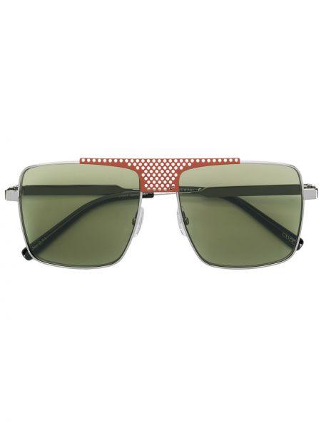 Прямые серебряные солнцезащитные очки квадратные металлические Oxydo