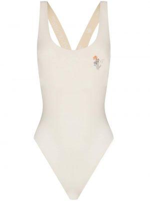 Biały strój kąpielowy z printem Off-white