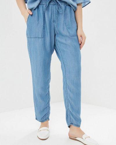 Голубые брюки Violeta By Mango