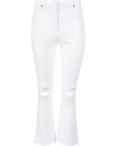 Хлопковые джинсы - белые Forte Couture