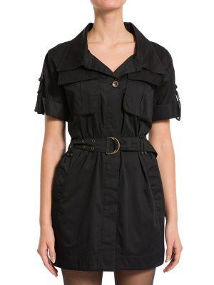 Хлопковое платье - черное Plein Sud