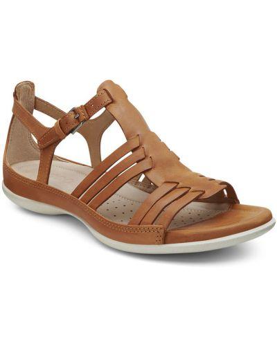 Сандалии коричневый кожаный Ecco