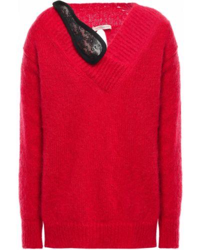 Sweter wełniany koronkowy sznurowany Christopher Kane