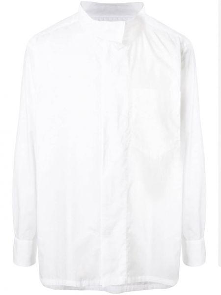 Koszula z długim rękawem prosto długa Kolor