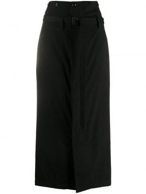 Хлопковая черная юбка с карманами Y`s