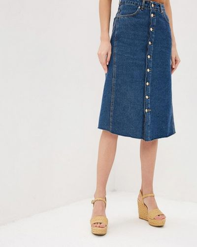 Джинсовая юбка синяя итальянский Miss Miss By Valentina