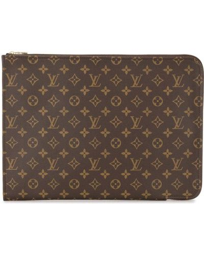 Brązowy torba sprzęgło z płótna Louis Vuitton
