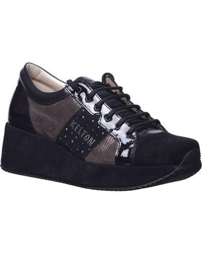 Кроссовки замшевые черные Kelton