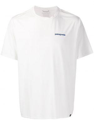Koszula krótkie z krótkim rękawem z logo z nadrukiem Patagonia