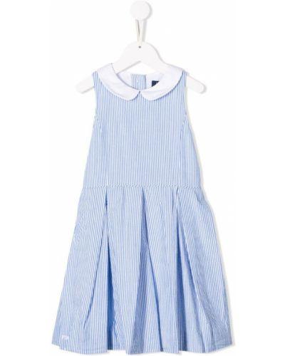 Платье с рукавами в полоску плиссированное Ralph Lauren Kids