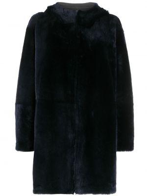 Синее пальто длинное Liska