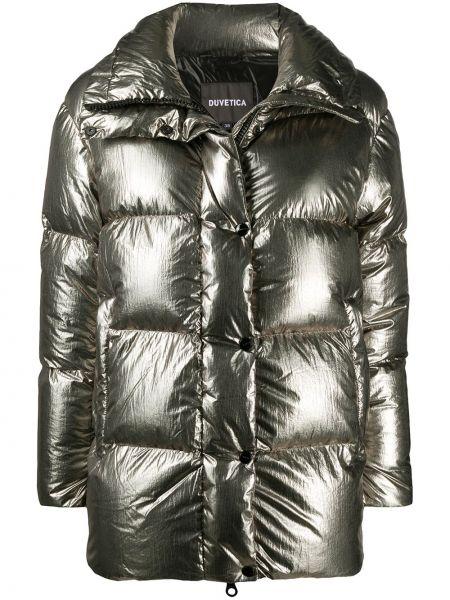 Płaszcz z długimi rękawami srebrny Duvetica