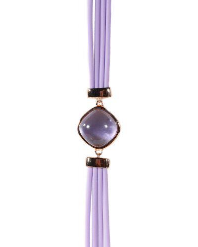 Фиолетовый браслет с фианитом Jewelry Box