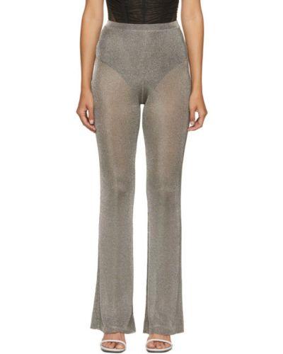 Свободные брючные расклешенные брюки из вискозы Mugler