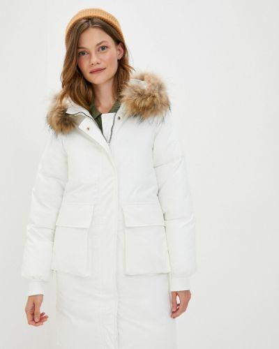 Белая теплая зимняя куртка Moki