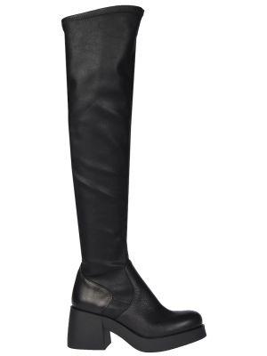 Ботфорты на каблуке кожаные Fabio Rusconi
