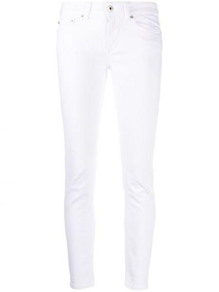Облегающие белые укороченные джинсы на пуговицах Dondup