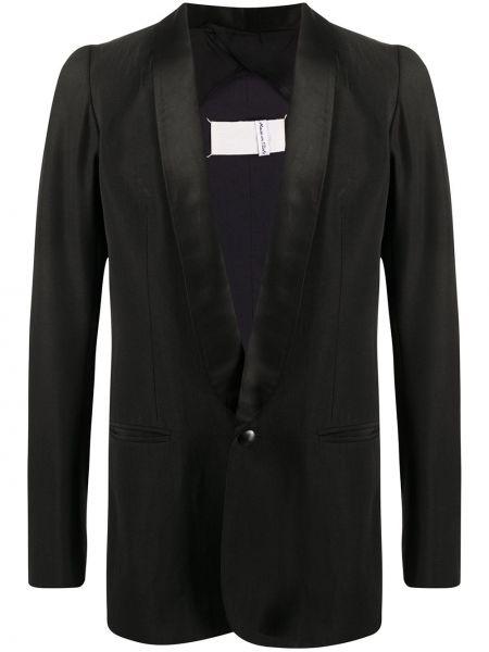 С рукавами шерстяной черный прямой пиджак Maison Martin Margiela Pre-owned