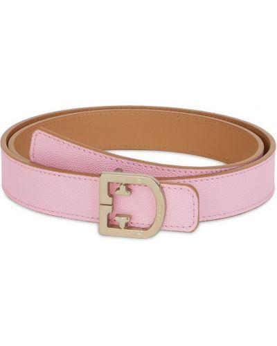 Широкий ремень металлический розовый Furla