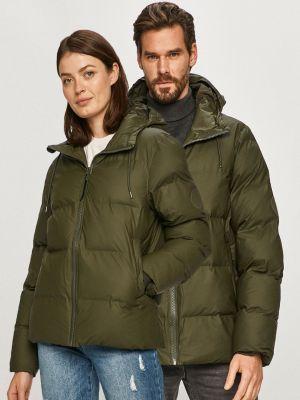 Прямая нейлоновая куртка с капюшоном Rains