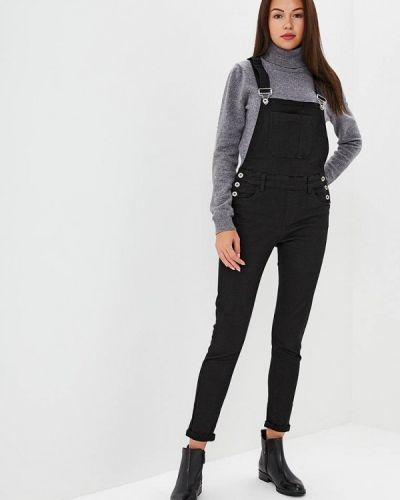 Черный джинсовый комбинезон Regular