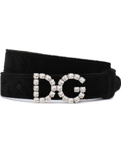 Черный ремень Dolce & Gabbana