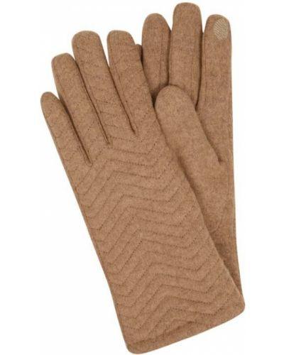 Rękawiczki wełniane - beżowe Ichi