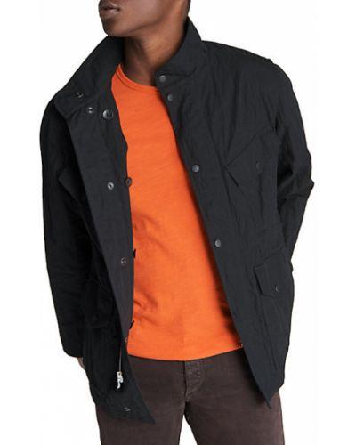Czarna długa kurtka asymetryczna bawełniana Rag & Bone