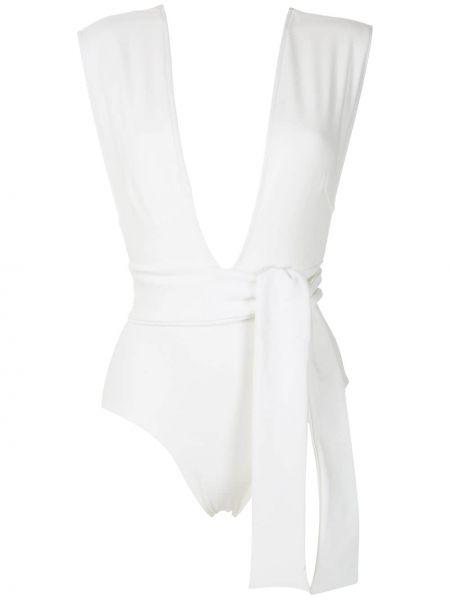 Biały krawat z dekoltem w szpic rozciągać Haight.