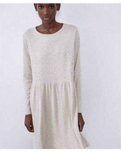 Платье свободного кроя - белое Zara