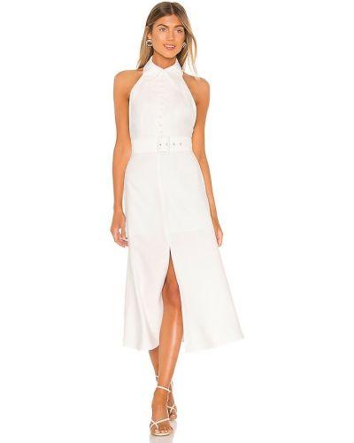 Бежевое платье с поясом свободного кроя C/meo