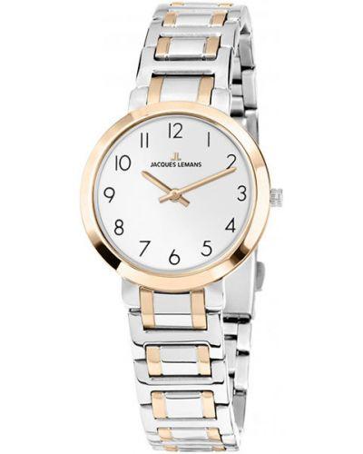 Кварцевые часы водонепроницаемые с круглым циферблатом Jacques Lemans