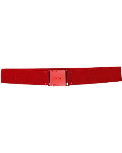 Красный ремень с пряжкой из вискозы эластичный No.21