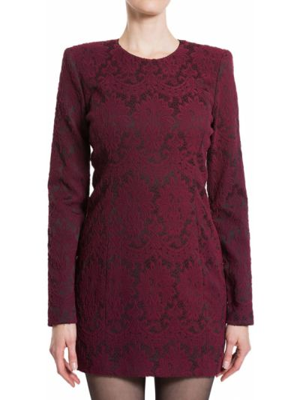 Платье из полиэстера - бордовое Plein Sud