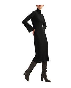 Повседневное платье черное Luisa Spagnoli