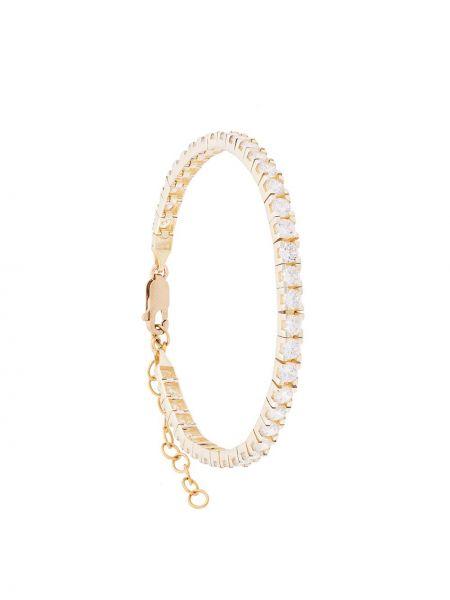 Белый браслет позолоченный Hues