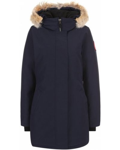Куртка с капюшоном с мехом нейлоновая Canada Goose