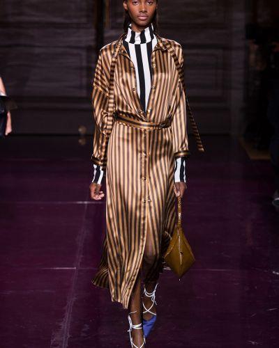 Платье макси в полоску на пуговицах Nina Ricci